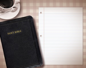 bible+notepad+coffee