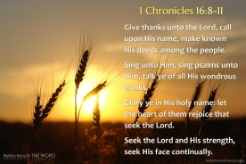 1 Chronicles 16:8-11
