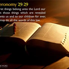 Deuteronomy 29:29