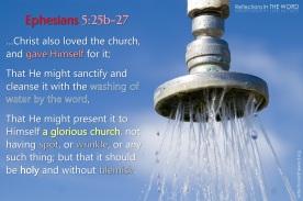 Ephesians 5:25b-27