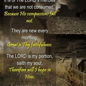 Lamentations 3:22-24