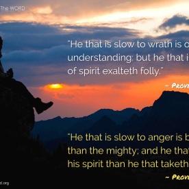 Proverbs 14:29 & Proverbs 16:32