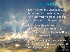 Psalm 100:3-5
