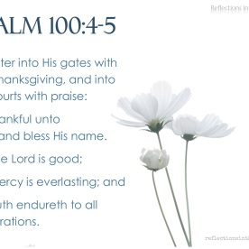 Psalm 100:4-5