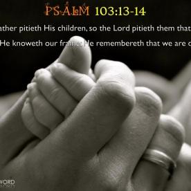 Psalm 103:13-14