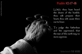 Psalm 10:17-18