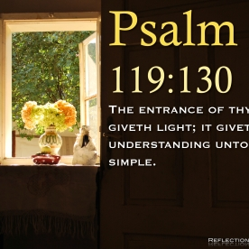 Psalm 119:130