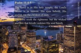 Psalm 11:4-5