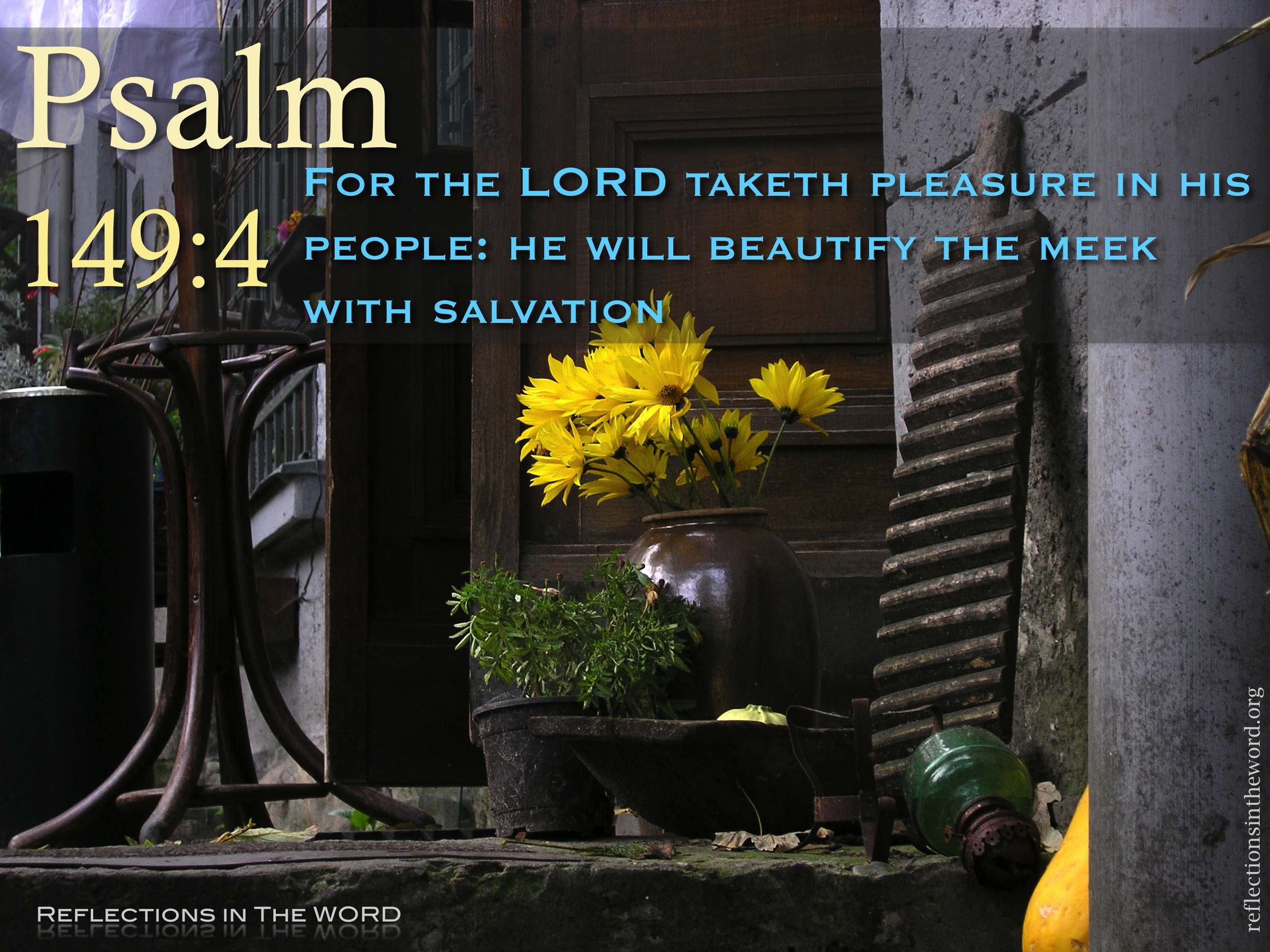 Psalm 149 4 Reflections In The Word