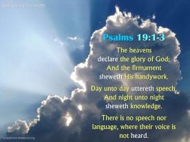 Psalm 19:1-3