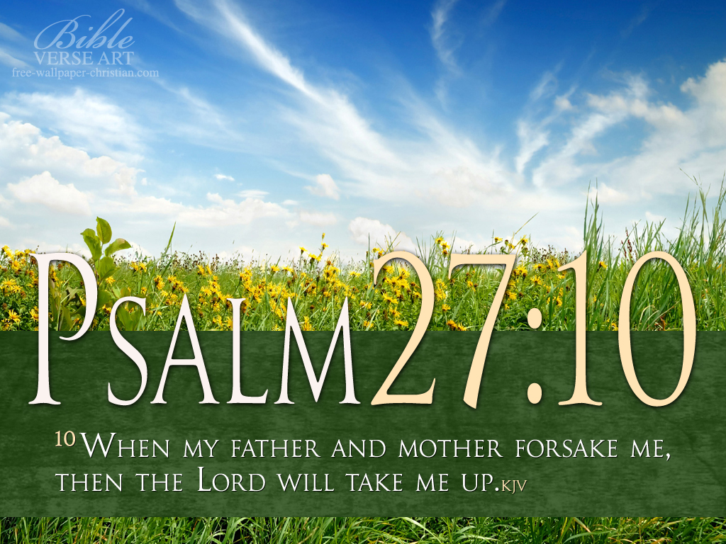 Christmas Bible Verses For Cards Kids Kjv Daughter And: Psalm-27-10-Photo-Bible-Verse