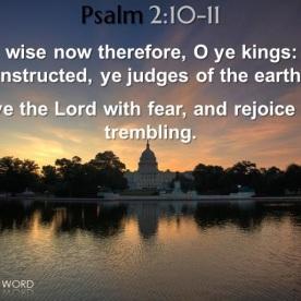 Psalm 2:10-11