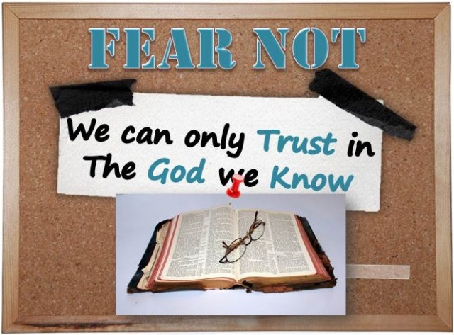 Can only trust God you know