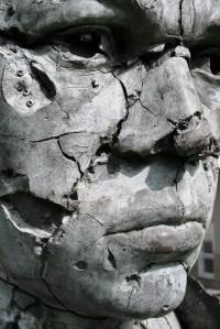 statue falling apart
