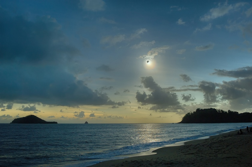 eclipse at beach