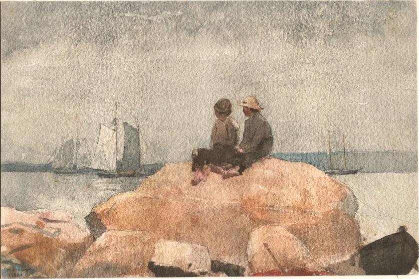 Winslow_Homer_-_Two_boys_watching_schooners