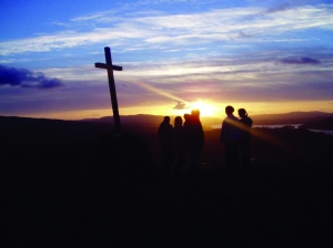 The_Way_of_the_Cross_at_sunset