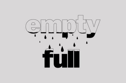 empty and full