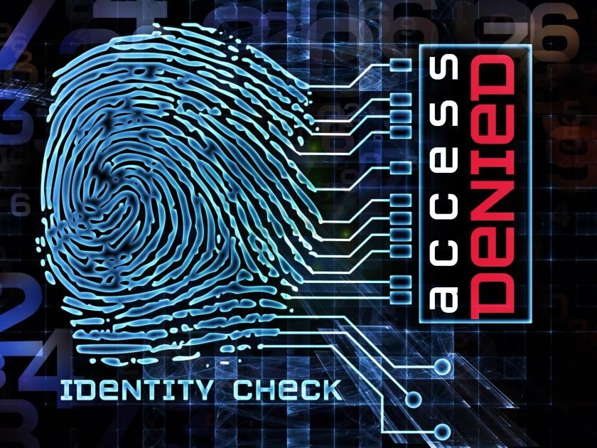 Design made of fingerprint graphic, numbers and abstract elements to serve as backdrop for projects related to security, encryption, on-line access